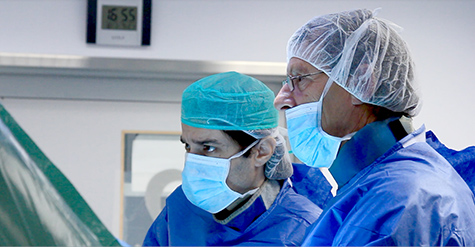 Professor Karmeli and Doctor Rabin (Carotid Endarterectomy operation)